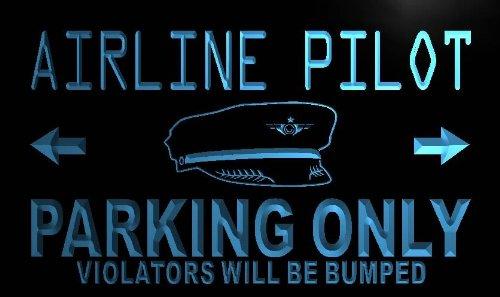 adv-pro-n099-b-airline-pilot-parking-only-neon-light-sign-barlicht-neonlicht-lichtwerbung