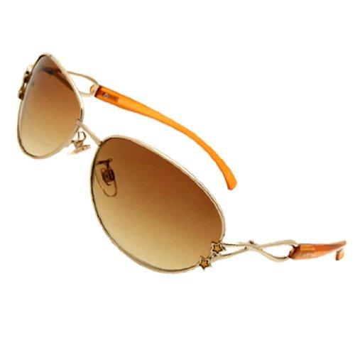 Dimart Big Oval Lens Small Pentagram Brown Eyewear Women's Sunglasses