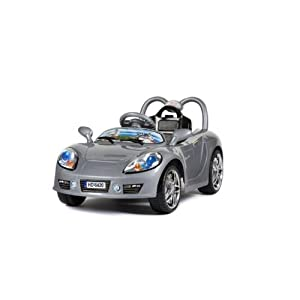 Ride on Aston Martin Style Sports Car with Parental Remote Control in Silver