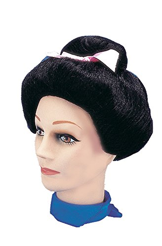 Star Power Japanese Lady Bun Costume Wig Black One Size (Adult)