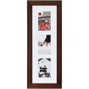 brio 30862 mehrfach bilderrahmen f r 3 bilder flach wengeholz 20 x 60 cm k che. Black Bedroom Furniture Sets. Home Design Ideas
