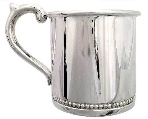 Cunill 3-Ounce Beaded Baby Cup, 2.12-Inch, Sterling Silver - 1