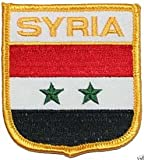 Country of Syria Embroidered iron on Flag Patch CL14