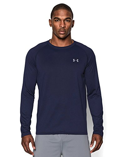 Under Armour Men's Tech Long Sleeve T-Shirt, Midnight Navy (410), Medium
