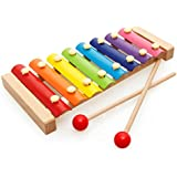 Nahshon Wooden Children Puzzle Musical Toys Keyboard Instruments Baby Knock Piano Octave Toys