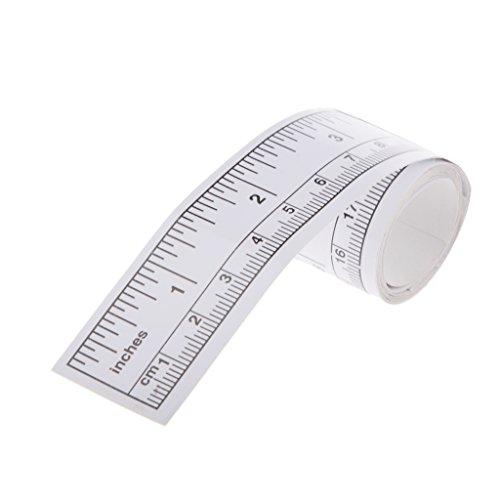 90cm Selbstklebende Maßband Vinyl Silber Lineal Nähmaschine Aufkleber