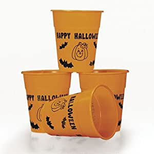 Happy Halloween Disposable Plastic Cups - Halloween Party Supplies & Decorations & Party Favor &