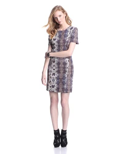 W118 by Walter Baker Women's Lucille Dress  [Saphire Snakeskin]