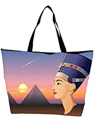 Snoogg Nefertiti And Giza Vector Waterproof Bag Made Of High Strength Nylon