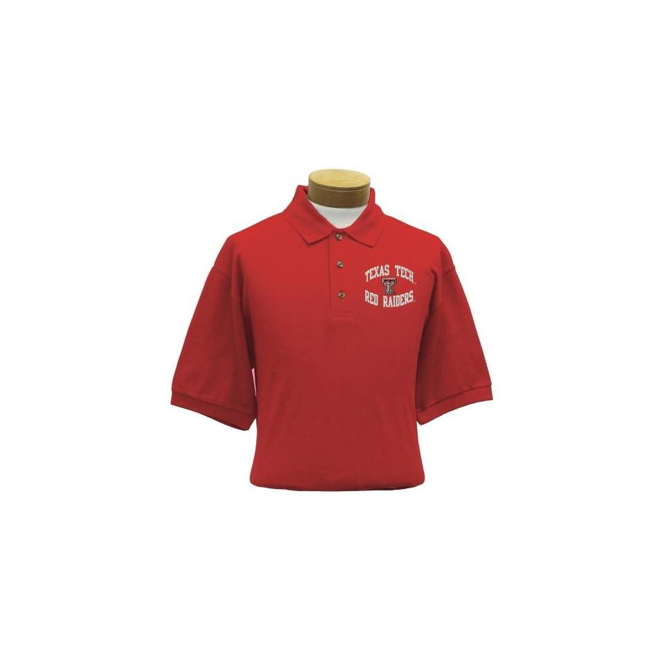 NCAA Texas Tech Embroidered Pique Polo Shirt