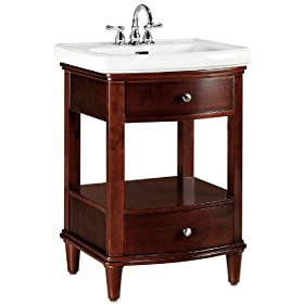 "Avery Bath Vanity, 35""Hx24""W, DARK CHERRY"