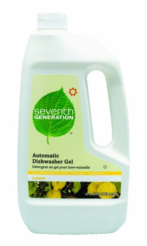 Seventh Generation Automatic Dishwasher Gel, Lemon Scent, 45-Ounce Bottles (Pack of 6)