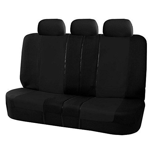 FH Group FB051BLACK013 Black Universal Split Bench Seat Cover (Allow Right and left 40/60 Split, 50/50 Split Fit Most of Vehicle) (60 40 Split Universal Seat Cover compare prices)