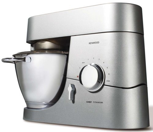 Kenwood Chef Titanium KM010 4.6 Litre Kitchen Machine, 1400 Watt, Titanium