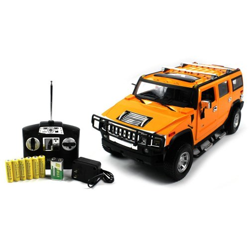 1:14 Scale Hummer H2 Suv Electric Rc Truck Rtr (Color: Yellow)