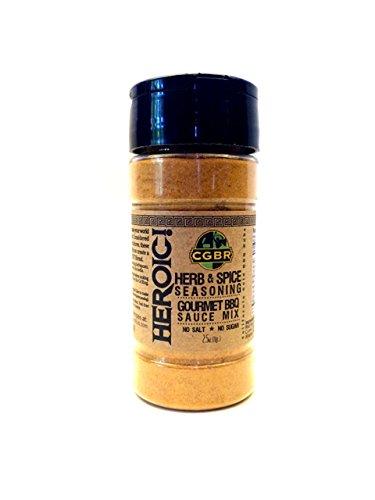 HEROIC! BBQ Rub- Gluten Free. No Salt/Sugar Added. (2.5 0z.) (Bbq Salt compare prices)