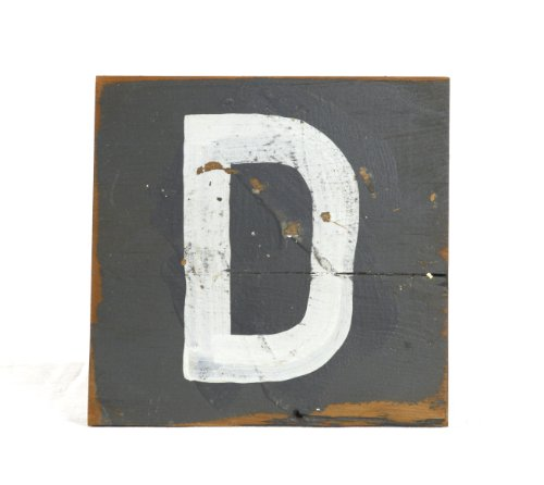 ZENTIQUE Wooden Letter, Small, Monogrammed D