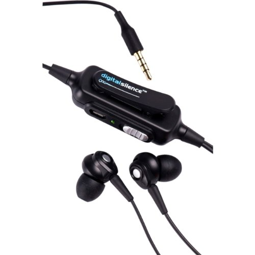 Digital Silence Ds101A-Black Analog Ambient Noise Cancelling Ear Buds