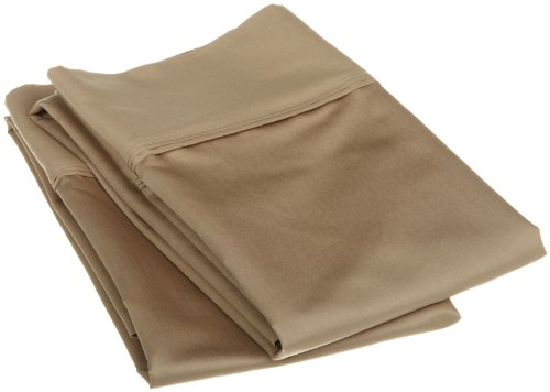 Egyptian Cotton 1200 Thread Count Oversized Standard Pillowcase Set Solid, Taupe front-890417