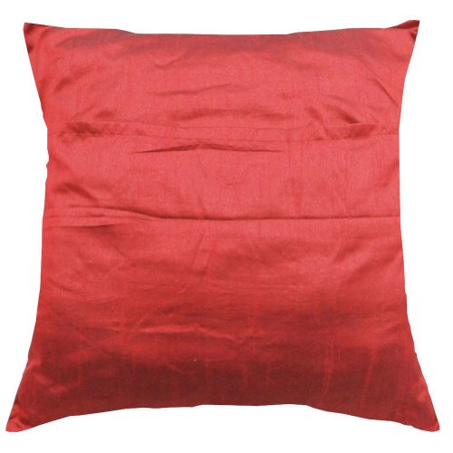 Solid Print Cushion Cover Decorative Maroon Pillow Case Dupion Silk Throw Home Decor Indian Art 24