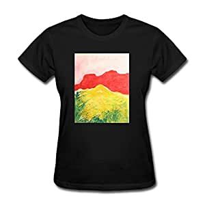Custom red rock ledge cotton women different for Amazon custom t shirts