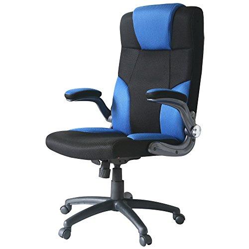 UNE BONNE(ウネボネ) オフィスチェア 椅子 ロッキング メッシュ (椅子) ガス圧昇降式ブルー