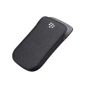 BlackBerry Leather Pocket for Bold 9900 - Black