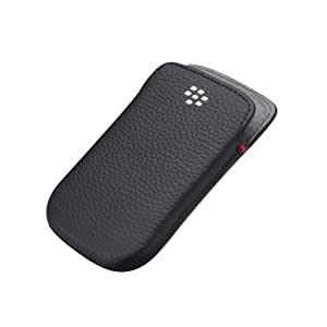 BlackBerry Leather Pocket for Bold 9900 - Black