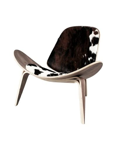 Control Brand Charles Dining Chair, Black/White/Brown