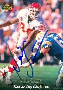 Neil Smith autographed Football Card (Kansas City Chiefs) 1995 Upper Deck #167