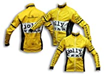 JOLLYWEAR Cycling windproof and rainproof super-thermal Jacket (VINTAGE yellow collection) 3XL