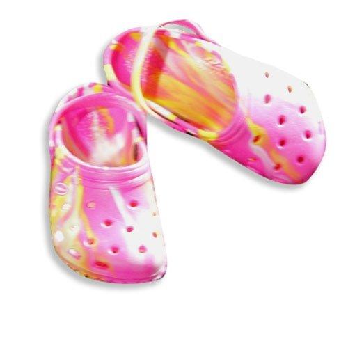 Veggies Toddler Girls Tie Dye Slip Shoe Fuschia