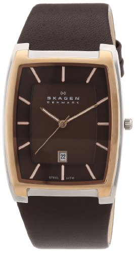 Skagen - SKW6004 - Montre Homme - Quartz - Analogique - Bracelet Cuir Marron
