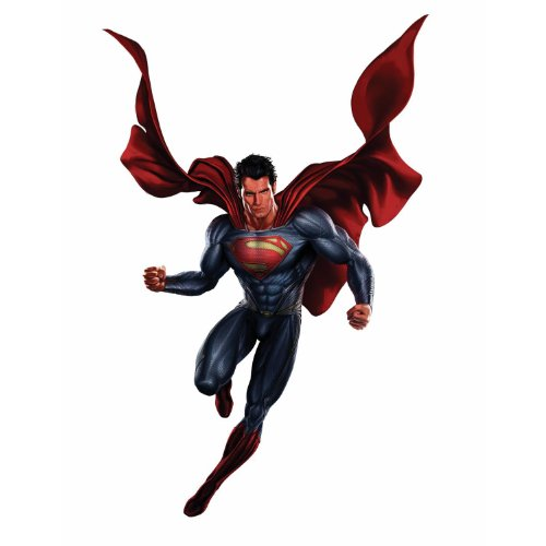 RoomMates RMK2272GM  Superman Man Of Steel Peel and Stick Giant Wall Decals