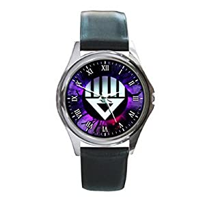 New Wrist Watches XKHD025 NEW* GREEN LANTERN Power Rings Round Metal WATCH Leatherban d