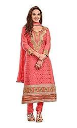 Blissta Gajri cotton embroidered salwar suit dress material