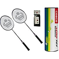 Cosco CB 885 Combo Baminton Kit WITH FREE SPORTSHOUSE WRIST BAND - B01JIZZ6MO