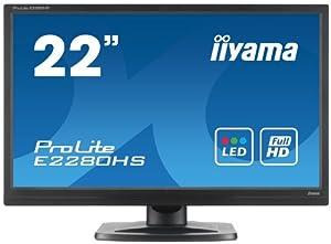 Iiyama ProLite E2280HS 22-inch Backlit LED LCD Monitor - Black