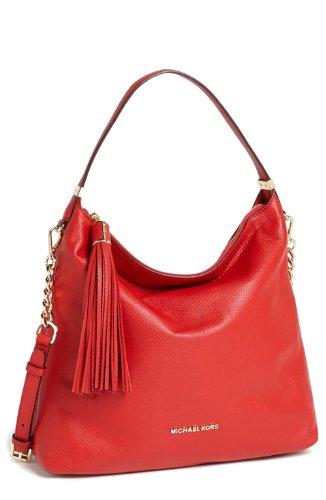 Michael Michael Kors Weston Large Shoulder Bag, Red