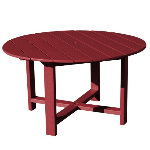 VIFAH V1094-B Recycled Plastic 51-Inch Outdoor Round Dining Table, Burgandy