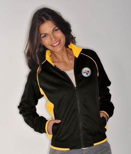 Pittsburgh Steelers Women's NFL Medalist Full Zip Team Color Track Jacket - Larg at Amazon.com