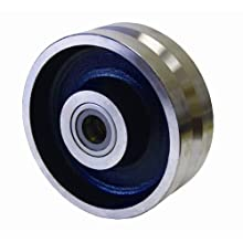 RWM Casters V-Groove Wheel with Straight Roller Bearing 6000 lbs Capacity