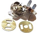 マグネットボタン 18mm シルバー 差し込みタイプ 強力 ハンドメイド 薄型 手芸 マグボタン (30個セット)