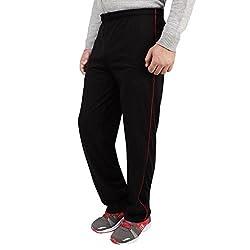 Dernier Wear Men's Cotton Track Pants Black-L