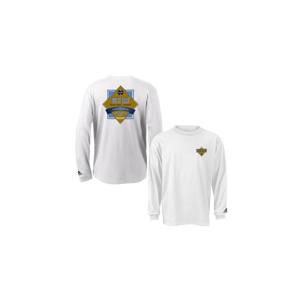 Adidas Notre Dame Fighting Irish White Diamond Force Long Sleeve T shirt