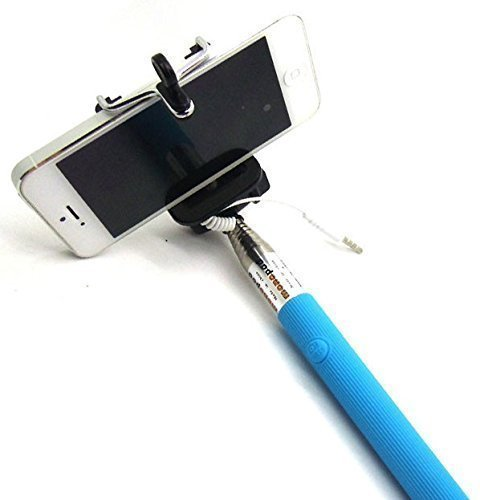 eCosmos EC-SELFIE || Ultimate Selfie Stick Monopod With Easy Aux Cable (Asorted Colors)  available at amazon for Rs.115