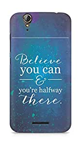 AMEZ believe you can and you are there halfway Back Cover For Acer Z630S