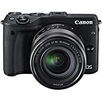 Canon EOS M3 24.2MP HD Mirrorless Camera with EF-M 18-55mm IS STM Lens - Manufacturer Refurbished + Canon EOS M Mount Adapter