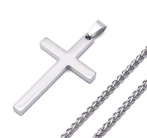 reve-jewelry-anillo-de-acero-inoxidable-simple-tono-de-plata-cruz-collar-con-colgante-para-el-hombre