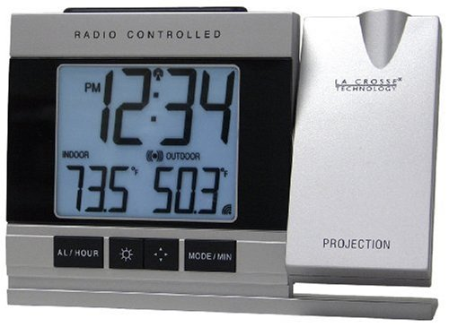 La Crosse Technology  WT-5220U-IT Projection Alarm Clock with Indoor/Outdoor Temperature